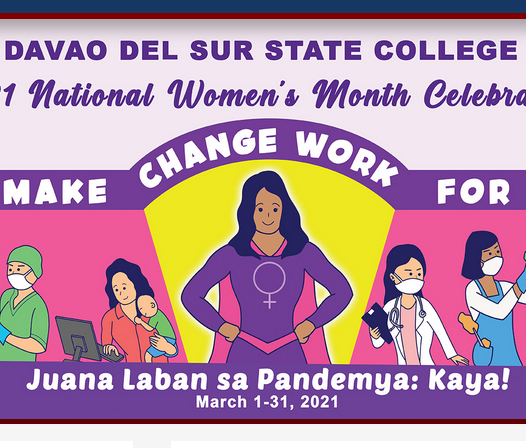 DSSC celebrates National Women's Month with these activities... Faculty, staff and students are encouraged to have their fb profile frame below: https://m.facebook.com/story.php?story_fbid=250615849881520&id=109946757281764&sfnsn=mo